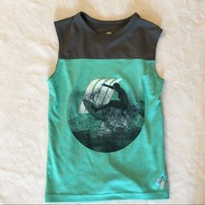 CHILDREN'S PLACE Aqua and Gray Surf Sport Tank